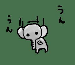 Boy elephant sticker #2102380