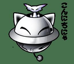 Alien cat & UFO cat sticker #2103181