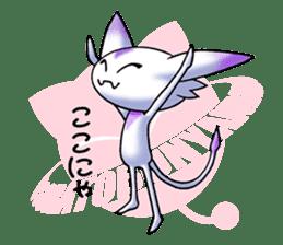 Alien cat & UFO cat sticker #2103205
