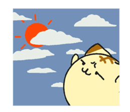 The cat which comes out of the edge sticker #2103737