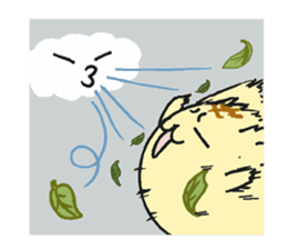 The cat which comes out of the edge sticker #2103740