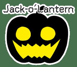 Halloween Sticker in English sticker #2103786
