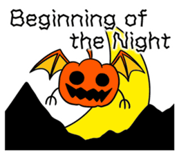 Halloween Sticker in English sticker #2103787