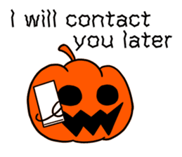 Halloween Sticker in English sticker #2103809