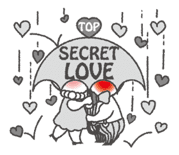 Love story of Hearton and Loveli. sticker #2104027