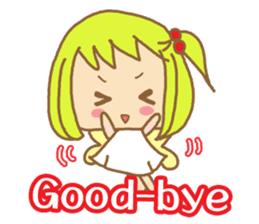 Blond Girls Greeting Sticker sticker #2104324