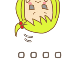 Blond Girls Greeting Sticker sticker #2104332