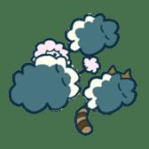 racoon loving a shape of cloud sticker #2106027