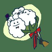 racoon loving a shape of cloud sticker #2106041