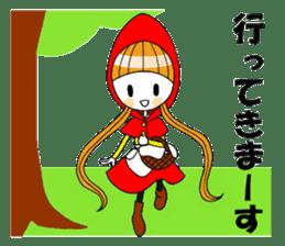 Fairy tale style girl sticker sticker #2106429