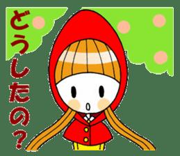 Fairy tale style girl sticker sticker #2106433
