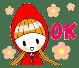 Fairy tale style girl sticker sticker #2106435