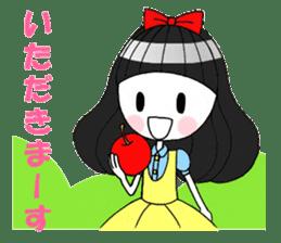 Fairy tale style girl sticker sticker #2106451