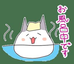 Round cat surreal sticker #2106889