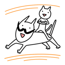 OHIGE-CAT and kitten sticker #2108249