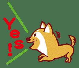 Shiba-Japanese dog! sticker #2110156