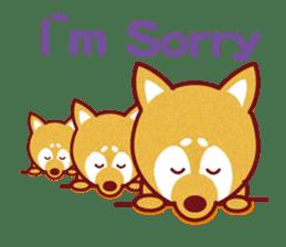 Shiba-Japanese dog! sticker #2110160