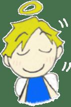 Angel-kun of blue clothing sticker #2110182