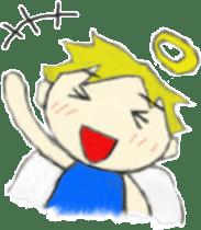Angel-kun of blue clothing sticker #2110185