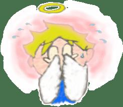 Angel-kun of blue clothing sticker #2110187
