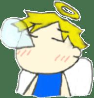 Angel-kun of blue clothing sticker #2110188