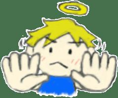 Angel-kun of blue clothing sticker #2110195