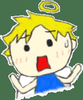 Angel-kun of blue clothing sticker #2110196