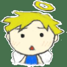 Angel-kun of blue clothing sticker #2110197