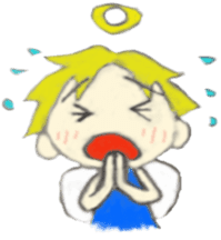 Angel-kun of blue clothing sticker #2110199