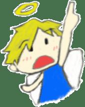 Angel-kun of blue clothing sticker #2110201