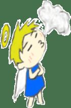 Angel-kun of blue clothing sticker #2110202