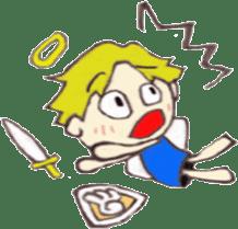 Angel-kun of blue clothing sticker #2110204