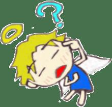 Angel-kun of blue clothing sticker #2110205