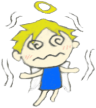 Angel-kun of blue clothing sticker #2110206