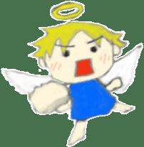 Angel-kun of blue clothing sticker #2110208