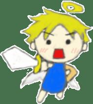 Angel-kun of blue clothing sticker #2110209