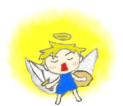 Angel-kun of blue clothing sticker #2110210