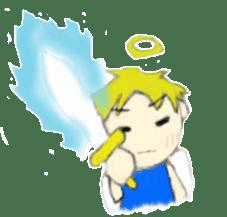 Angel-kun of blue clothing sticker #2110211