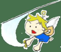 Angel-kun of blue clothing sticker #2110212