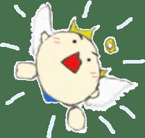 Angel-kun of blue clothing sticker #2110214