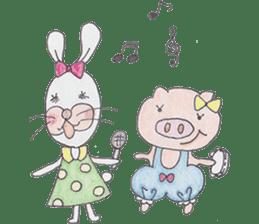 Happy enjoy Rabbit sticker #2110552