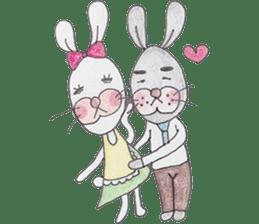 Happy enjoy Rabbit sticker #2110553