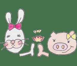 Happy enjoy Rabbit sticker #2110560
