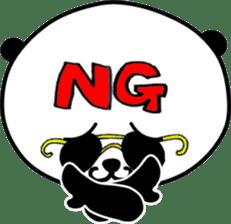 Dar-pan (panda of nihilistic) sticker #2111034