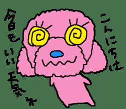 Toy poodle no.1 sticker #2111708