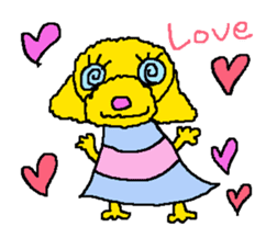 Toy poodle no.1 sticker #2111714