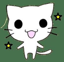 Very cute white cat sticker sticker #2112944