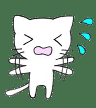 Very cute white cat sticker sticker #2112945