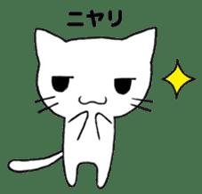 Very cute white cat sticker sticker #2112957