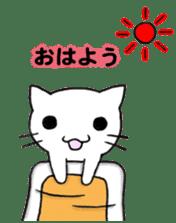 Very cute white cat sticker sticker #2112972